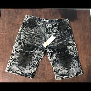 Other - Black wash denim jean shorts sz 44